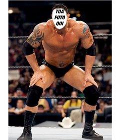 Fotomontaggio con i più diffusi Batista wrestler di mettere la vostra faccia