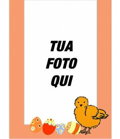 Chick cornice e uova dipinte, perfetta per i bambini
