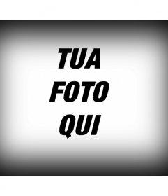 """Filtri fotografici da applicare ad una immagine digitale, che consiste in un bordo a un""""immagine nero sfumato come un editor di foto"""