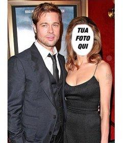 Effetto di modificare con la tua foto e di essere Angelina Jolie con Brad Pitt