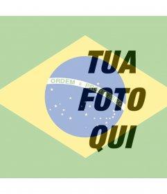 Collage di mettere la bandiera brasiliana accanto alla foto online