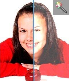 Filtro per schiarire foto scure online e gratis