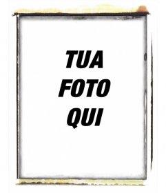 """Polaroid effetto di stile photo frame bruciato. Per mettere la vostra immagine all""""interno"""