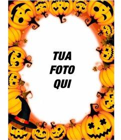 Cornice per foto con le zucche di Halloween