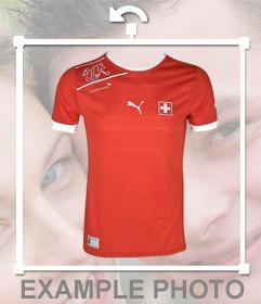 Maglietta ufficiale della squadra di calcio della Svizzera per incollare nelle foto