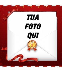 Invia on-line i migliori auguri di Natale con la tua foto per la vostra famiglia o con gli amici