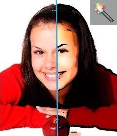 Foto del fumetto effetto filtro come se fosse un fumetto