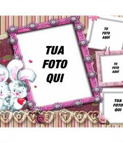 Collage di 4 immagini per gli amanti