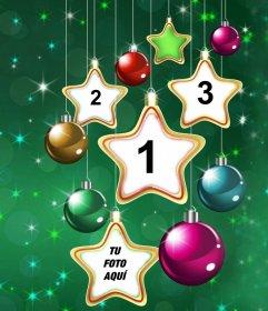 Foto Collage Di Natale.Collage Di Stella Di Natale Per Caricare Quattro Foto Fotoeffetti