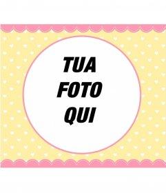 Pastello colore photo frame