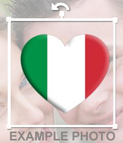 Cuore con la bandiera dItalia per incollare in qualsiasi punto le tue foto