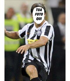 Fotomontaggio di Diego da Juventus a dare un volto