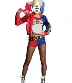 Costume in linea di carattere Harley Quinn da Suicide Squad per modificare