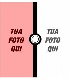 Fotomontaggio per due foto di Pokémon