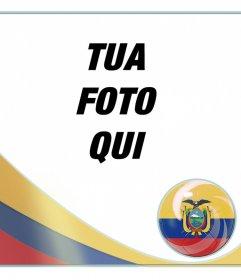 Effetto per aggiungere la bandiera dellEcuador nelle tue foto