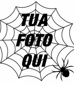 Metti un ragno di ragni e un ragno nella tua foto, effetto di terrore