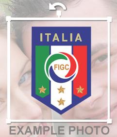 Effetto Foto per incollare lo scudo della Federazione Italiana Gioco Calcio (FIGC)