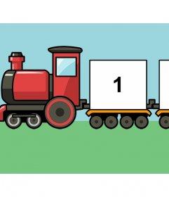 Collage online di un treno per bambini per aggiungere tre foto gratis effetto Foto
