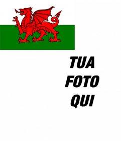 Bandiera del Galles per mettere in un angolo della vostra foto gratis