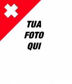 Bandiera svizzera su un angolo delle tue foto con questo effetto