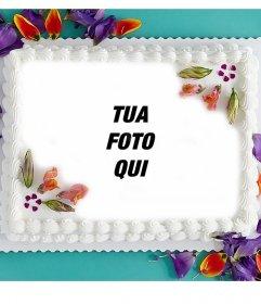 Foto effetto di perfetta torta di compleanno per la vostra immagine del profilo