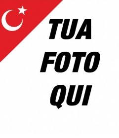 La bandiera della Turchia in un angolo delle tue foto gratis effetto Photo