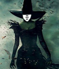 Fotomontaggio della strega Oz di mettere una foto del tuo volto su di esso