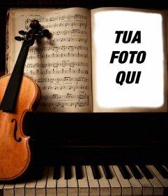 Carica le tue foto per questo fotomontaggio di un violino e pianoforte