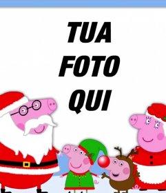 Effetto Foto di Natale con la famiglia