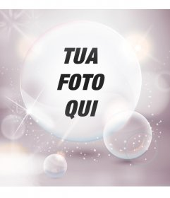 Immagine del profilo con le bollicine e luci intermittenti bianche per personalizzare il tuo avatar da Facebook e Twitter