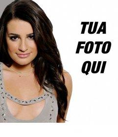 Fotomontaggio con Lea Michelle, Glee attrice
