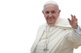 Fotomontaggio in cui vi appaiono con il Papa Francisco