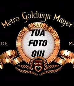 Fotomontaggio di mettere la vostra immagine nel logo della Metro Goldwyn Mayer