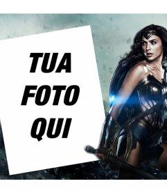 Effetto foto per personalizzare con la tua foto accanto alla nuova Wonder Woman