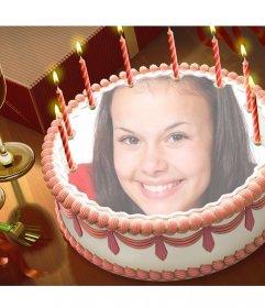 Metti la tua foto su una torta di compleanno con questo effetto