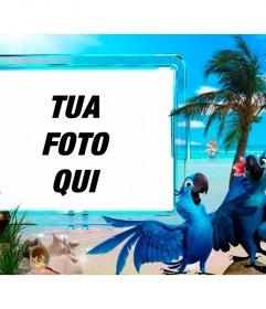Estate fotomontaggio di mettere la vostra foto su una spiaggia