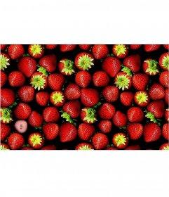 Photo gioco per mettere la tua foto in unimmagine piena di fragole