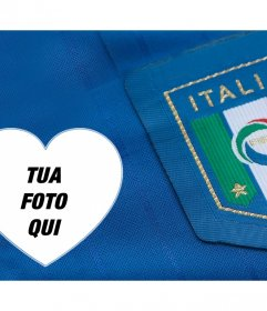 Supporta la squadra di calcio italiana con questo fotomontaggio di modificare