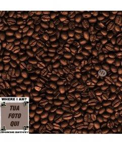 Gioco: trova il viso tra i chicchi di caffè. Aggiungi una foto per nasconderlo