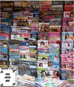 Gioco a fare con una foto, trovare la faccia in tutte le riviste