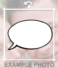 Generatore di palloncini di testo (spuntini stile comico) per aggiungere alle vostre foto. Mettere