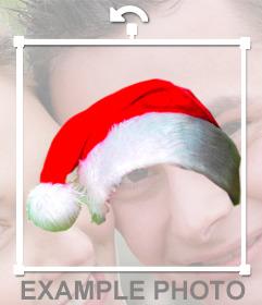 Fotomontaggio di mettere un tappo di Natale nella tua foto on-line senza conoscenze di progettazione