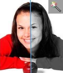 Filtro In Bianco E Nero Per Modificare Le Foto Online