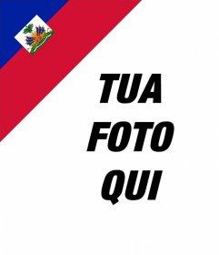 Mettere in un angolo della foto della bandiera di Haiti con questo effetto in linea