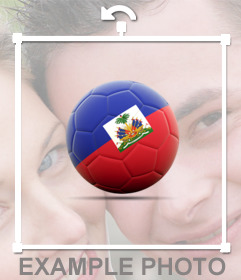 Decorate le vostre foto con un pallone da calcio con Haiti Flag per