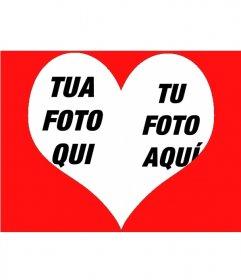 """Photo effetto di mettere due immagini all""""interno di un cuore"""