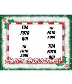 Cartolina di Natale da fare con le vostre foto preferite (4) la lettura di HAPPY CHRISTMAS!