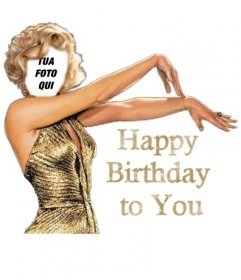 Buon Compleanno Birthday card personalizzabile Marilyn Monroe