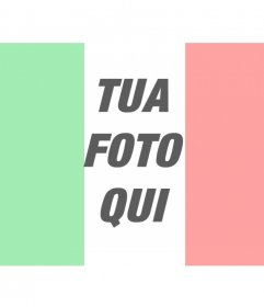 """Foto effetto dove si può mettere la bandiera d""""Italia con la tua foto online"""