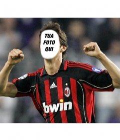 Fotomontaggio di Kakà con la maglia del Milan per mettere la vostra faccia